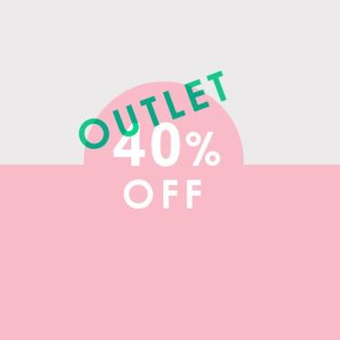 outlet sale - 40%OFF