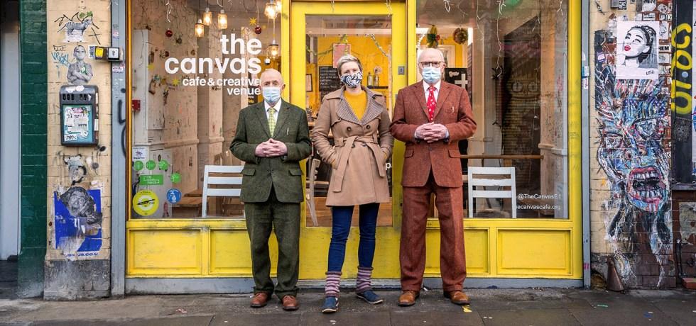 Gilbert & George at Canvas Café