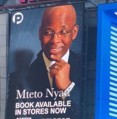 "Mteto Nyati's new book ""Betting on a Darkie"" debuts on NewYork Times Square Billboard 30"