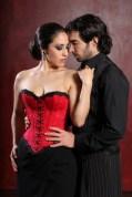 Cindy im Tango Korsett von Beata Sievi und Tangolehrer Silvio Grand, Bild:Giorgio von Arb