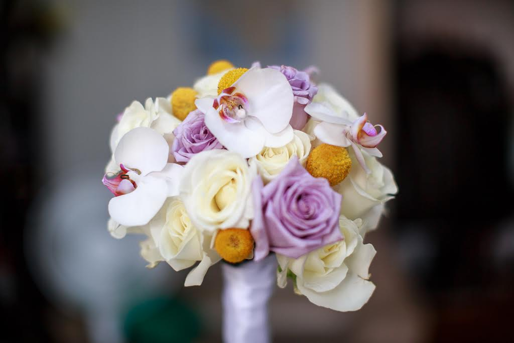 Handmade floral wedding bouquet