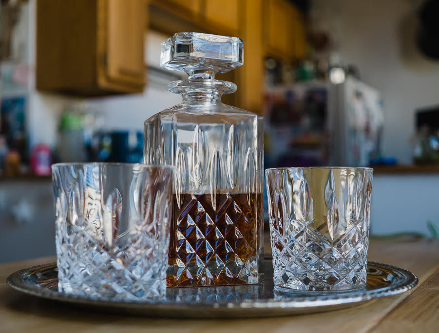 decanter whiskey glass set