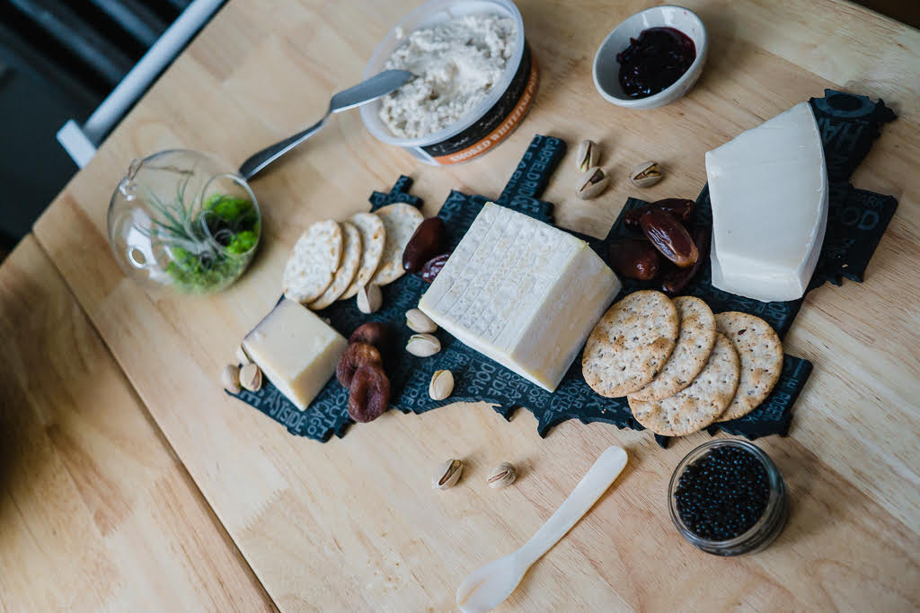 Cheese board styling for a party