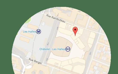 Carte Châtelet Les Halles - La Place Mobile