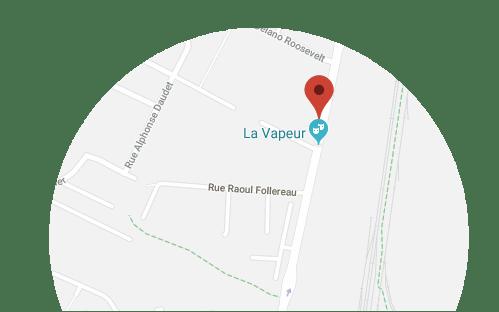 Carte La Vapeur - Dijon (Mobile)
