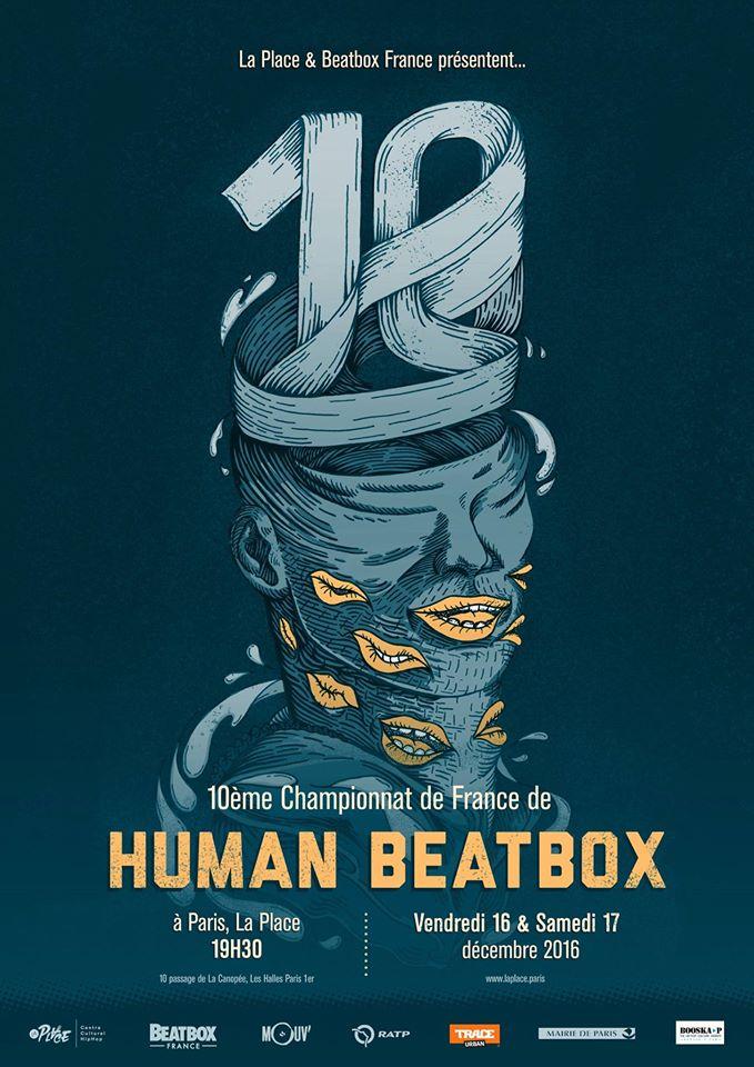 Affiche Championnat de France de Human Beatbox 2016