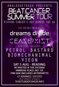 Beat:Cancer Summer Tour - Reading, Sat 5 August at The Facebar