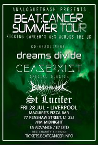 Beat:Cancer Summer Tour - Liverpool, Fri 28 July at Maguire's Pizza Bar