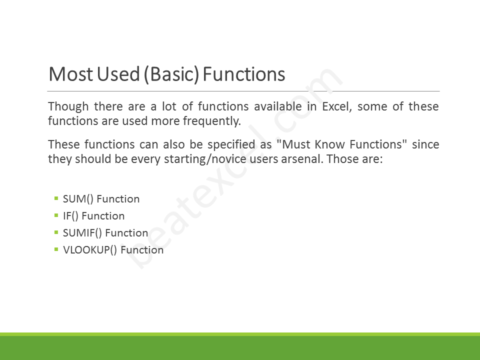 Excel Crash Course - Slide10