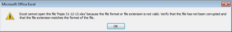 Excel file Error