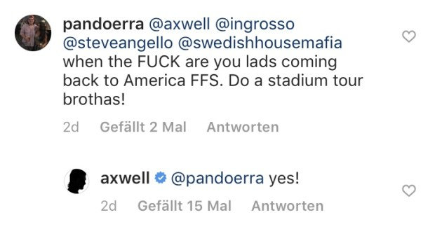 Axwell Instagram Swedish House Mafia