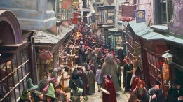 The busy path of the Diagon Alley just before school starts.