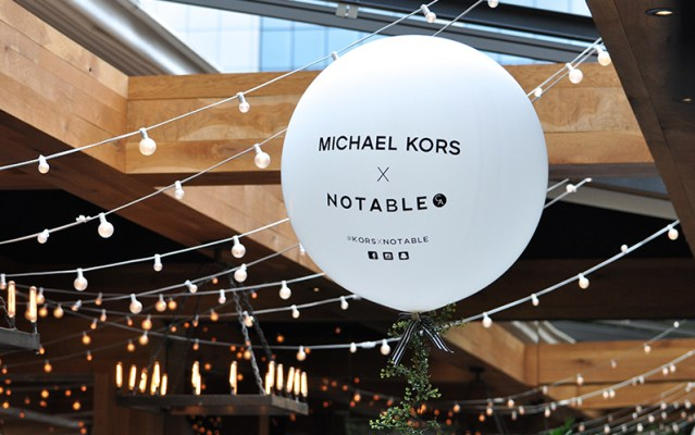 Michael Kors X Notable event held at Ristorante Beatrice.