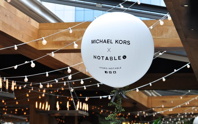 Michael Kors X Notable event hosted by Ristorante Beatrice.