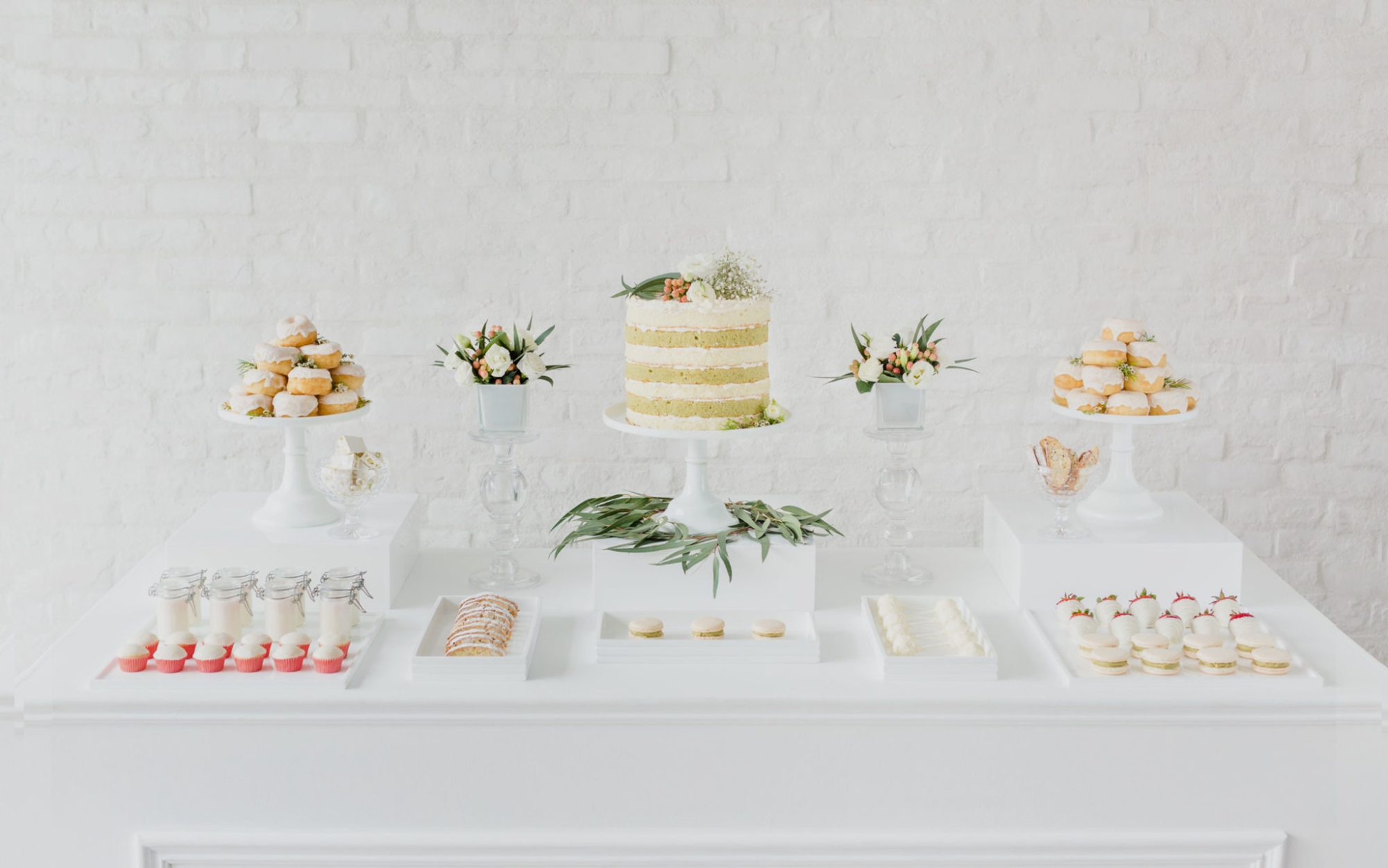 Dessert table from a wedding catered by Ristorante Beatrice.