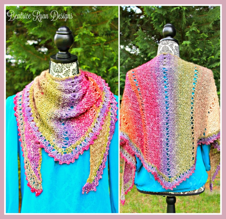 Amazing Grace Simple Spring Wrap... Free Crochet Pattern