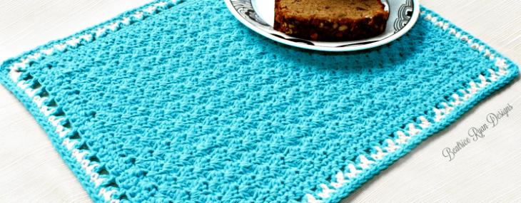 Tea Time Placemat… Free Crochet Pattern!!