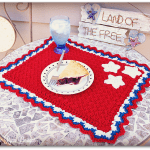 Patriotic Summertime Placemat… Free Crochet Pattern!!