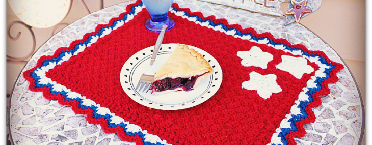 Patriotic Summertime Placemat… Free Crochet Pattern!!
