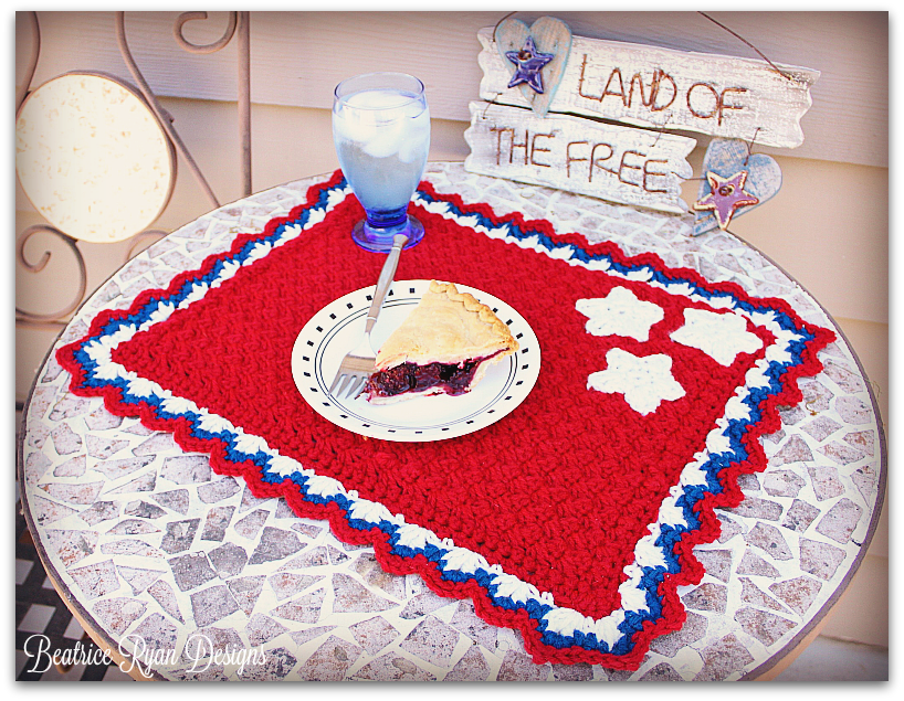 Patriotic Summertime Placemat... Free Crochet Pattern