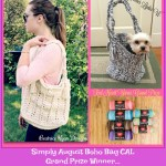 Simply August Boho Bag ~ Red Heart Grand Prize Winner Announced!!!