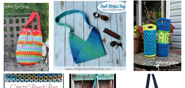 The Best Free Crochet Tote Patterns for 2018!  Get Ready for the beach and farmers' market!!