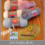 2020 Crochet with Me!! 7th Annual Winter Mystery Afghan CAL… Week 1
