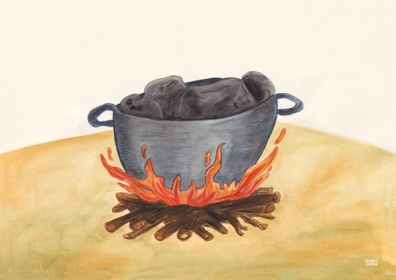 sopa de piedras beatriz larepa ilustracion diseño arte