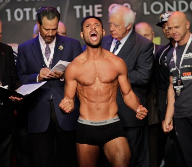GOLOVKIN- BROOK WEIGH IN INDIGO 2,LONDON PIC;LAWRENCE LUSTIG WBC,IBF AND IBO MIDDLEWEIGHT TITLE GENNADY GOLOVKIN V KELL BROOK WEIGH IN FOR THEIR FIGHT AT LONDONS 02 ARENA ON SATURDAY(9 SEPT)