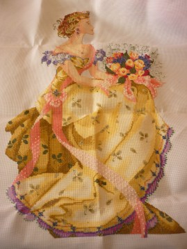 My 3rd finished cross-stitched Spring Queen design