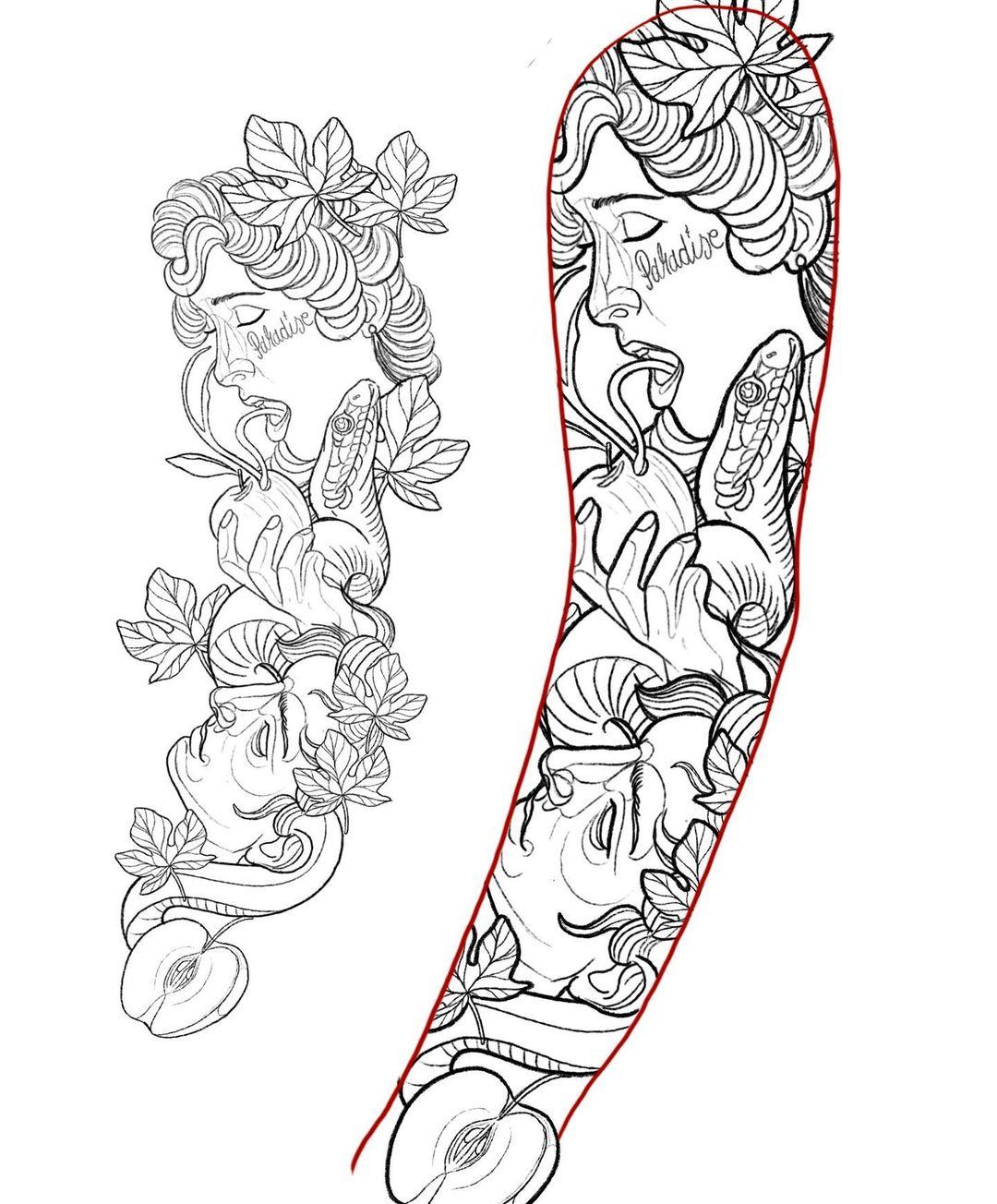 Sketches Of Tattoos For Sleeves And Necks