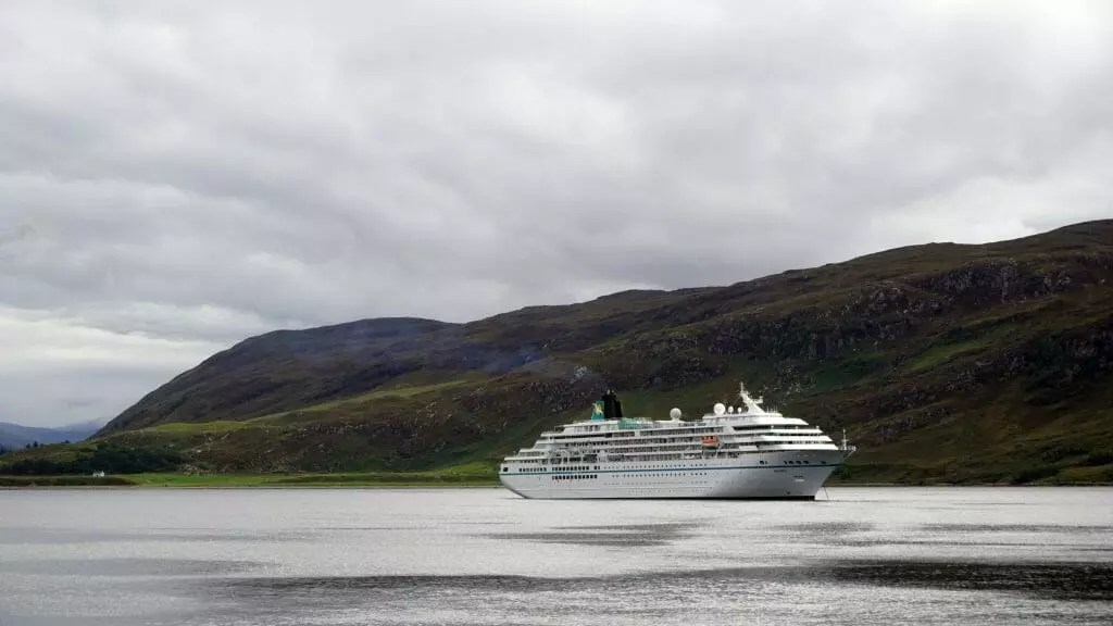 A cruise liner on Loch Broom