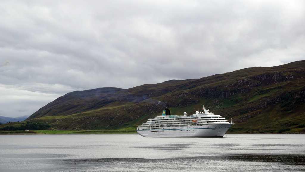 A cruise liner on Loch Broom