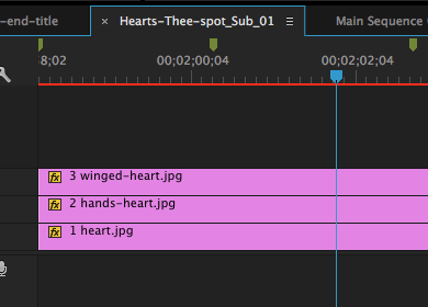 editing three-spot sequence
