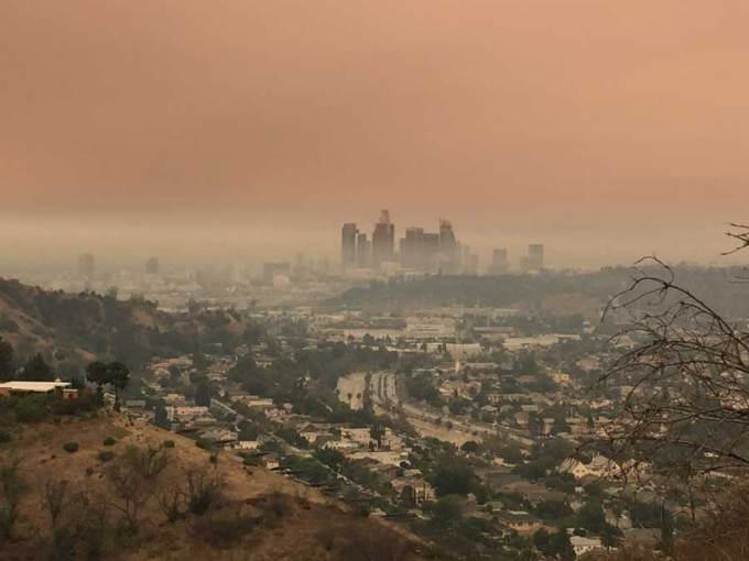 smoke from sand fire los angeles county