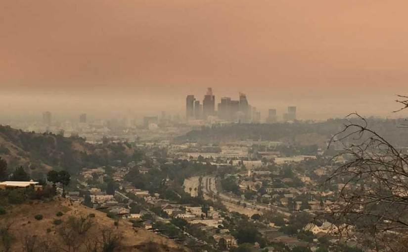 Sand Fire leaves Los Angeles smoky