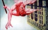 Fallen Angel, 2001, Alkyd/canvas, 27 x 42″