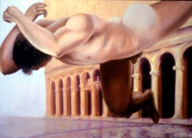 Marathon, 1998, Alkyd/canvas, 45 x 61″