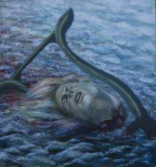 "Orpheus, 1987, Acrylic/panel, 24 x 26"""