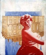 Study for Red, 1998 Alkyd/panel 12 3/4 x 10 1/4″