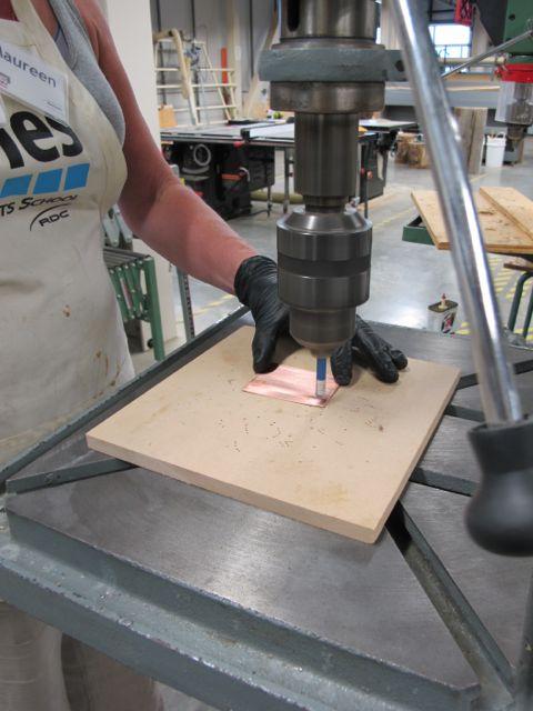Drill press & steel wool create new designs