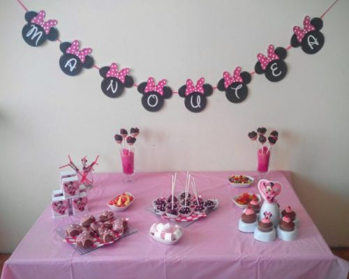 Sweet table Minnie pour fêter son 3 ème anniversaire {Manoutéa}