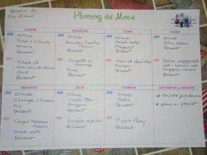 planning des menus du 8 au 14 avril