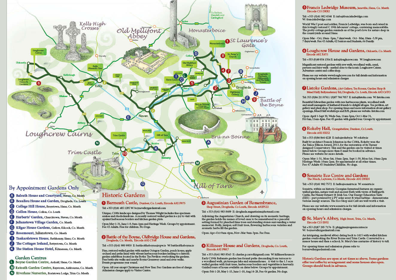 Map Of Co Meath Ireland.Beaulieu House Gardens Drogheda County Louth Ireland