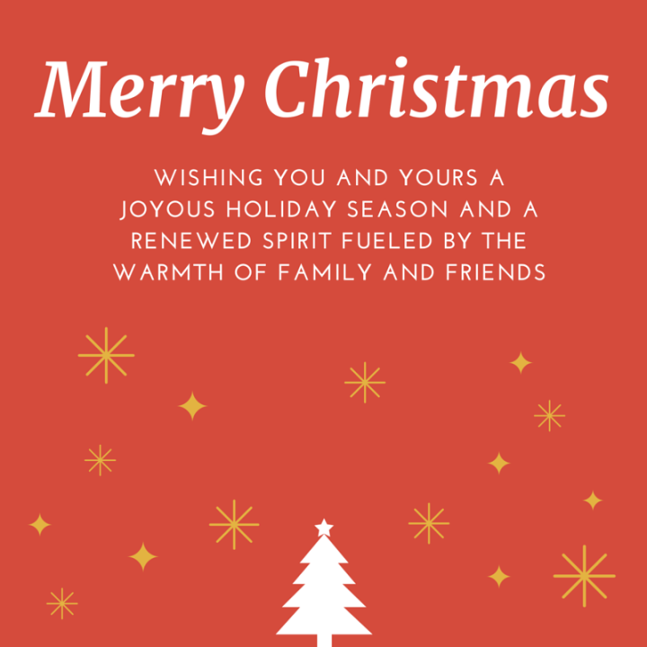 wishing you and yours a