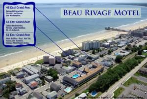 Beau Rivage Motel Aerial Shot
