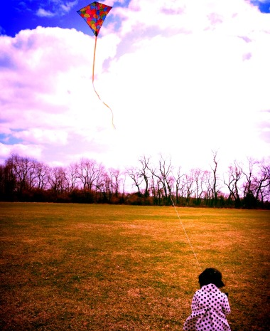 Family Time – Flying A Kite