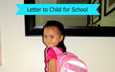 Back to School Letter to Child