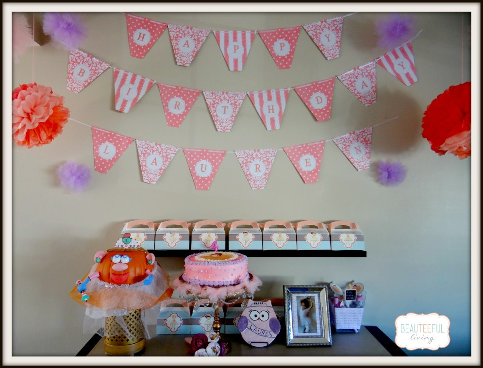 Ballerina Party Display Framed