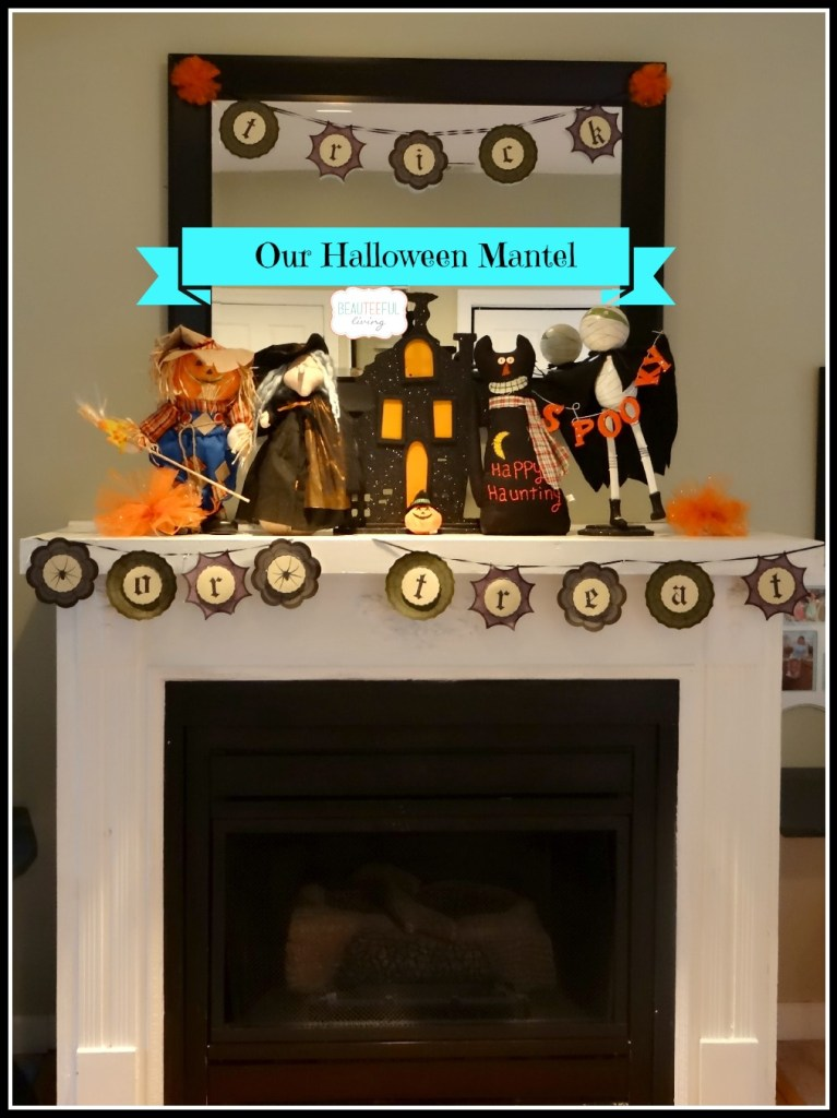 Halloween mantel simple